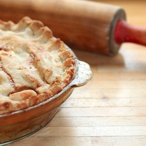 Making a pie crust from scratch involves patience and skill.