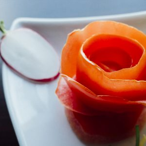 tomato edible garnish
