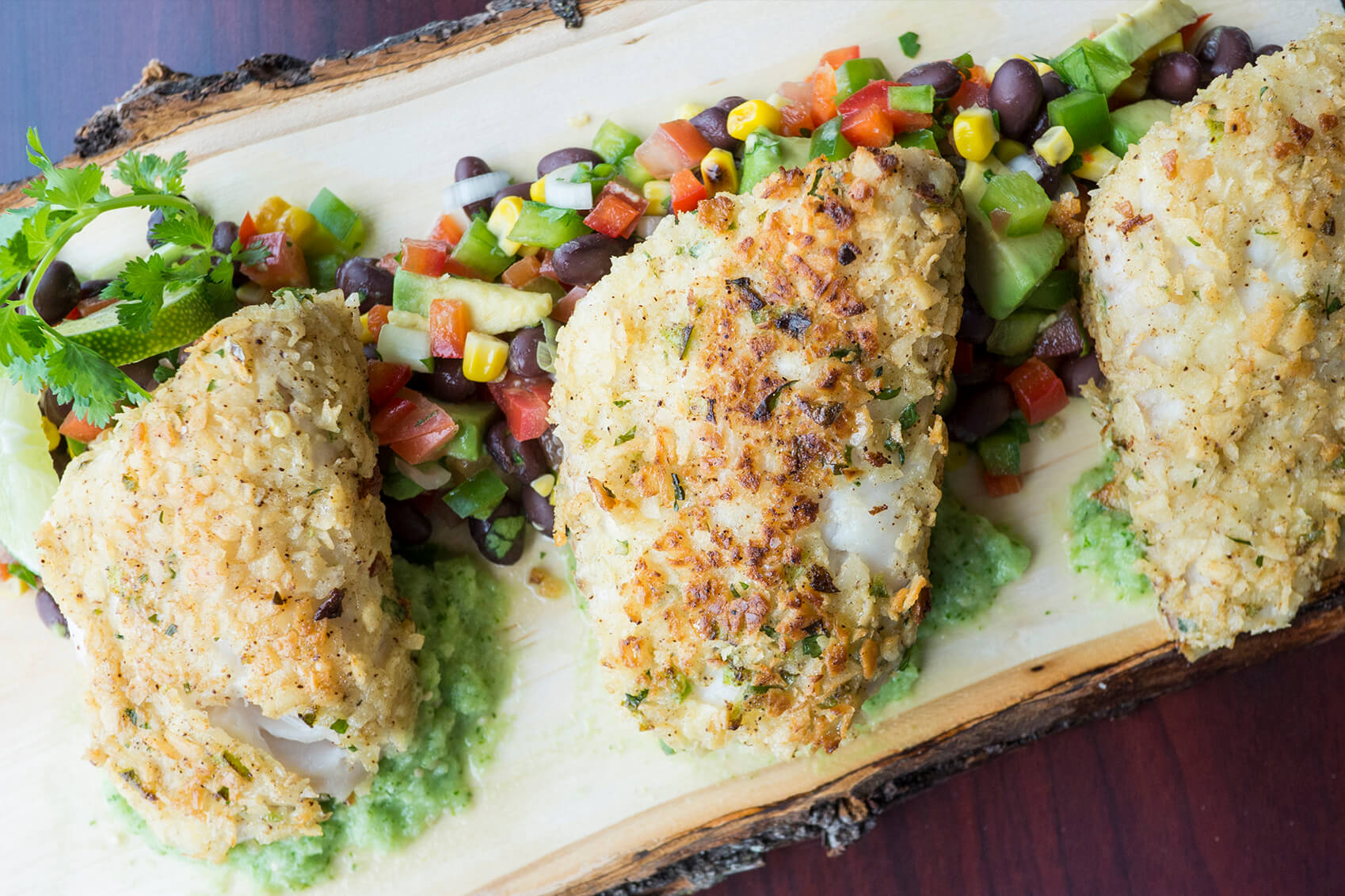 Tortilla crusted tilapia is a fun take on a fish fry.