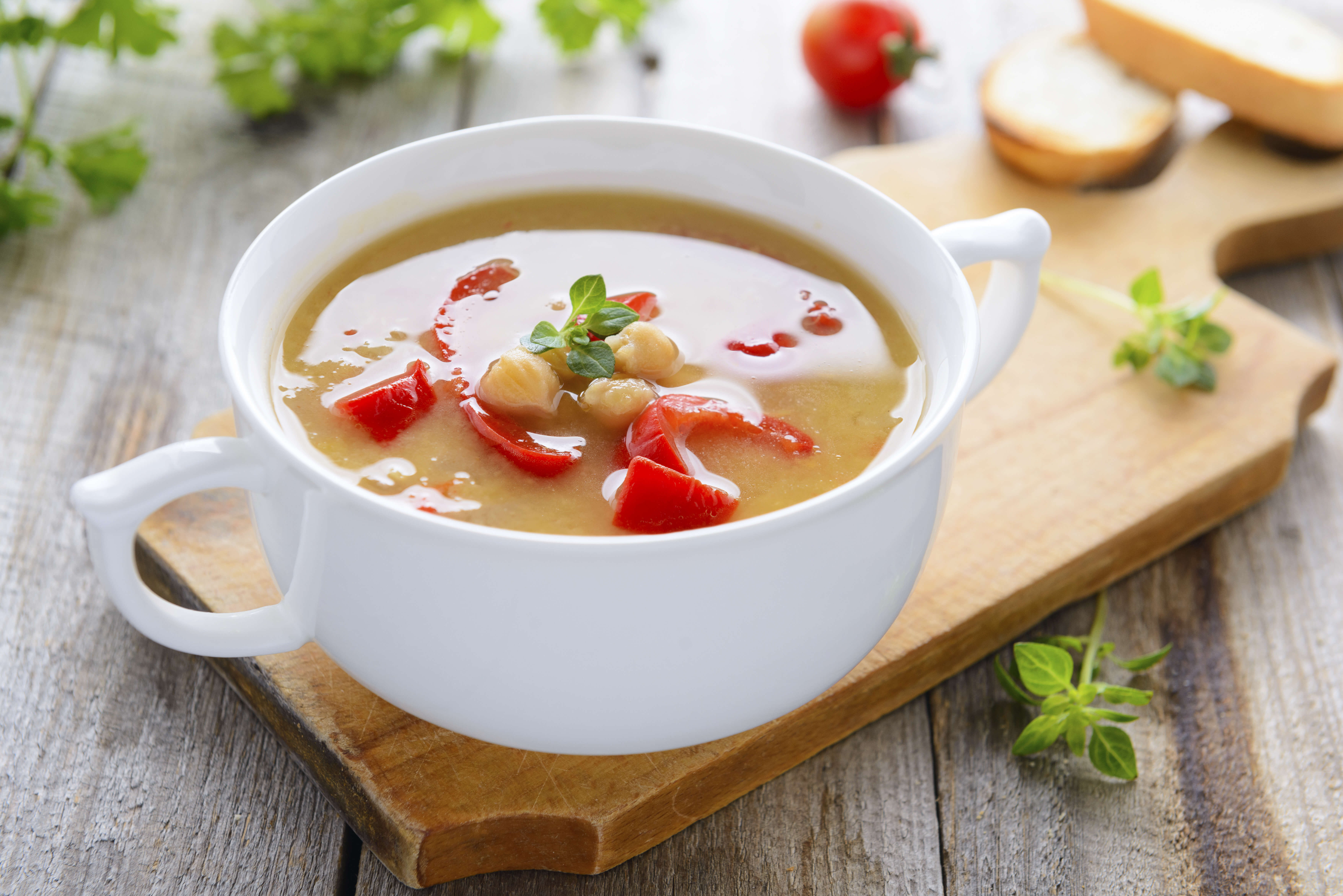Soups are a great way to go veggie while still maintaining flavor.