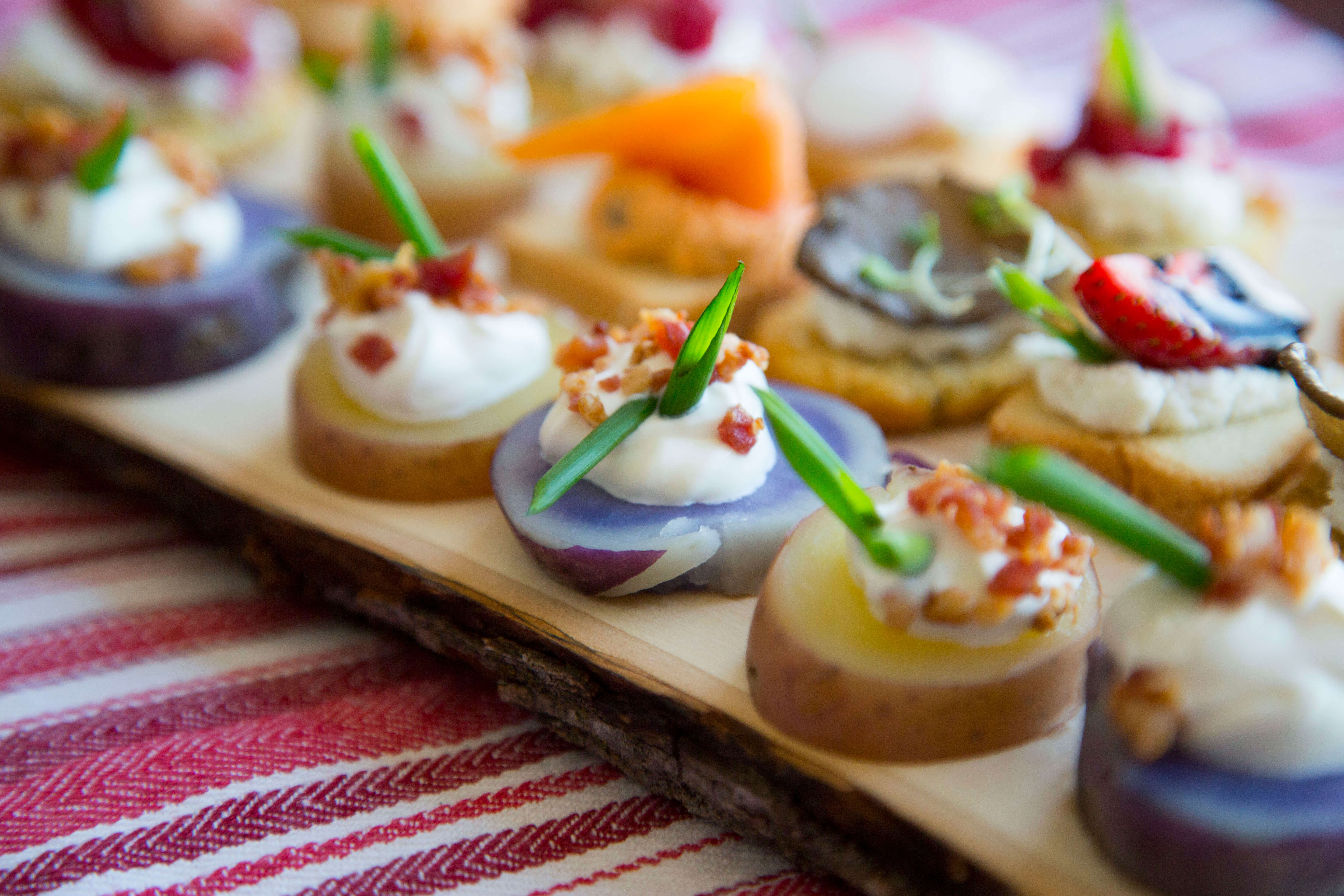 Canapes are the perfect hors d'oeurves for the holidays.