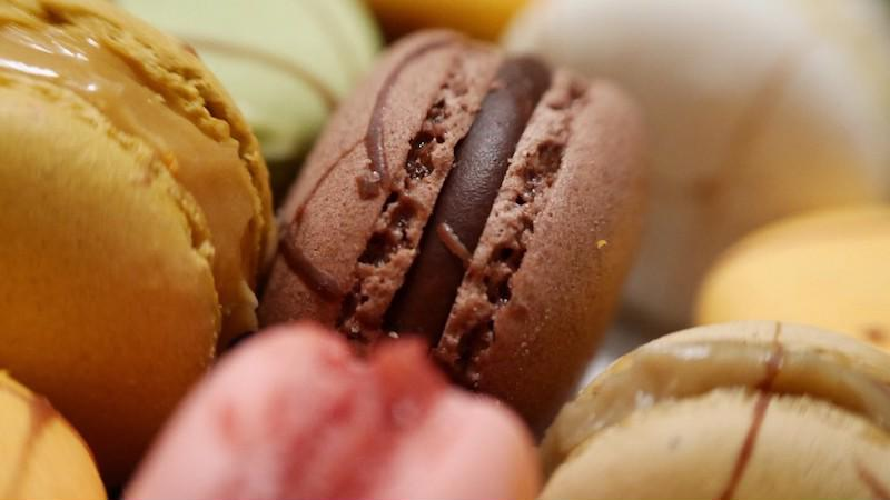 Macarons add texture and an extra treat to your cake.